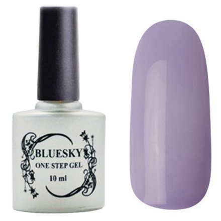 Bluesky, One Step Gel цвет № 053Однофазный Bluesky<br>Однофазный гель-лак,бледно-сиреневый, без блесток и перламутра, неоновый, плотный.<br>