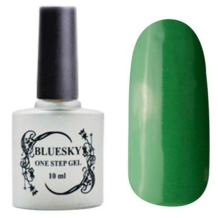 Bluesky, One Step Gel цвет № 054Однофазный Bluesky<br>Однофазный гель-лак,травянисто-зеленый, без блесток и перламутра, плотный.<br>