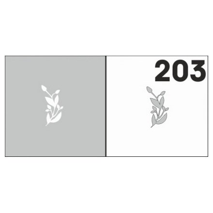 AIRnails, Трафарет №203Трафареты<br>Набор многоразовых клеевых трафаретов для аэрографии на ногтях, 6шт/1уп<br>