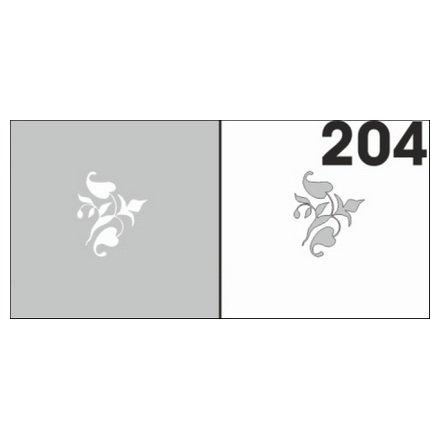 AIRnails, Трафарет №204Трафареты<br>Набор многоразовых клеевых трафаретов для аэрографии на ногтях, 6шт/1уп<br>