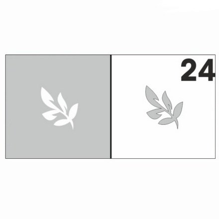 AIRnails, Трафарет №24Трафареты<br>Набор многоразовых клеевых трафаретов для аэрографии на ногтях, 6шт/1уп<br>