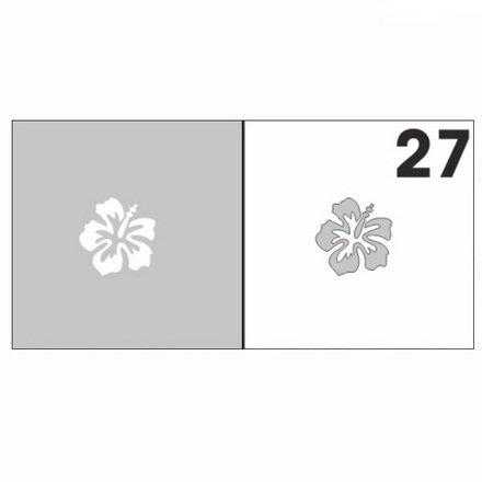 AIRnails, Трафарет №27Трафареты<br>Набор многоразовых клеевых трафаретов для аэрографии на ногтях, 6шт/1уп<br>