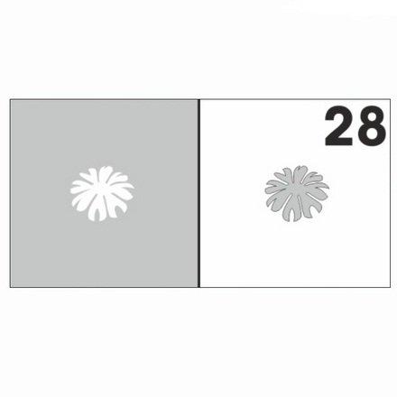 AIRnails, Трафарет №28Трафареты<br>Набор многоразовых клеевых трафаретов для аэрографии на ногтях, 6шт/1уп<br>