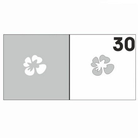 AIRnails, Трафарет №30Трафареты<br>Набор многоразовых клеевых трафаретов для аэрографии на ногтях, 6шт/1уп<br>