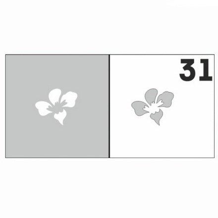 AIRnails, Трафарет №31Трафареты<br>Набор многоразовых клеевых трафаретов для аэрографии на ногтях, 6шт/1уп<br>