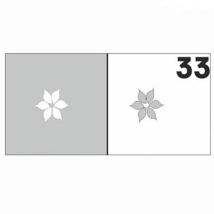 AIRnails, Трафарет №33Трафареты<br>Набор многоразовых клеевых трафаретов для аэрографии на ногтях, 6шт/1уп<br>