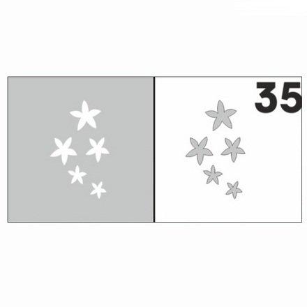 AIRnails, Трафарет №35Трафареты<br>Набор многоразовых клеевых трафаретов для аэрографии на ногтях, 6шт/1уп<br>