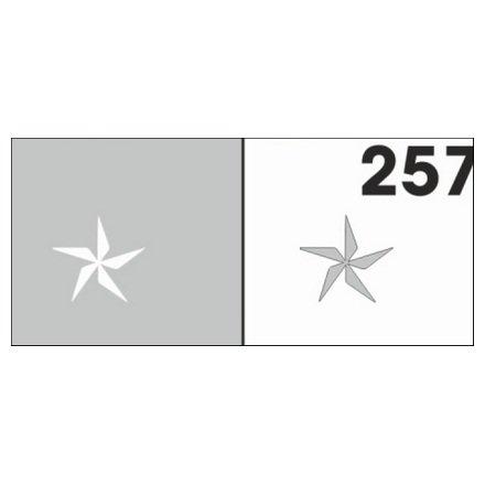 AIRnails, Трафарет №257Трафареты<br>Набор многоразовых клеевых трафаретов для аэрографии на ногтях, 6шт/1уп<br>