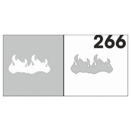 AIRnails, Трафарет №266Трафареты<br>Набор многоразовых клеевых трафаретов для аэрографии на ногтях, 6шт/1уп<br>