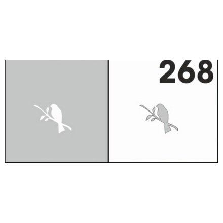 AIRnails, Трафарет №268Трафареты<br>Набор многоразовых клеевых трафаретов для аэрографии на ногтях, 6шт/1уп<br>