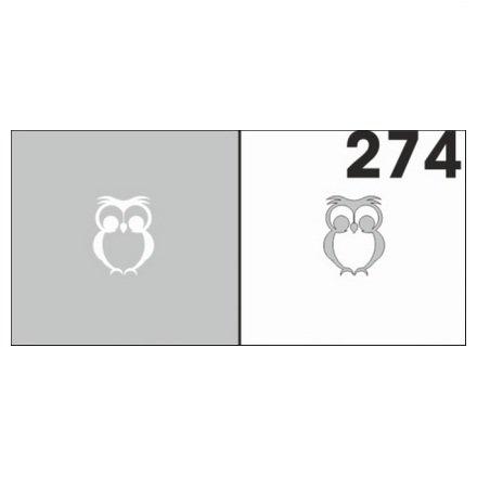 AIRnails, Трафарет №274Трафареты<br>Набор многоразовых клеевых трафаретов для аэрографии на ногтях, 6шт/1уп<br>