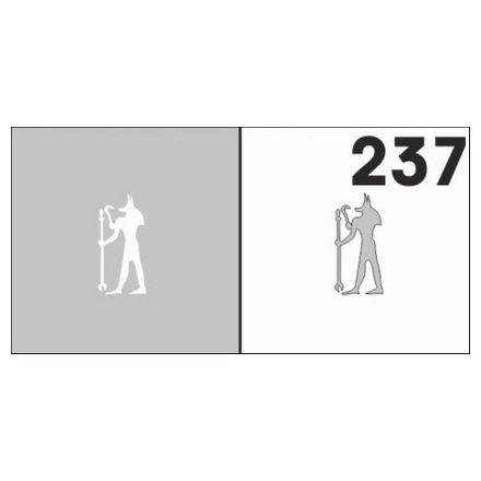 AIRnails, Трафарет №237Трафареты<br>Набор многоразовых клеевых трафаретов для аэрографии на ногтях, 6шт/1уп<br>