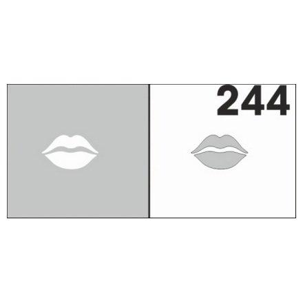 AIRnails, Трафарет №244Трафареты<br>Набор многоразовых клеевых трафаретов для аэрографии на ногтях, 6шт/1уп<br>
