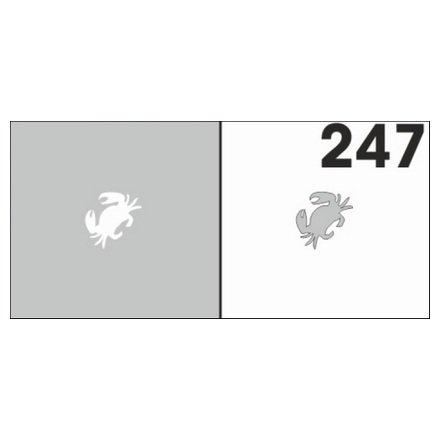 AIRnails, Трафарет №247Трафареты<br>Набор многоразовых клеевых трафаретов для аэрографии на ногтях, 6шт/1уп<br>