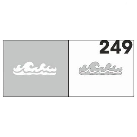 AIRnails, Трафарет №249Трафареты<br>Набор многоразовых клеевых трафаретов для аэрографии на ногтях, 6шт/1уп<br>