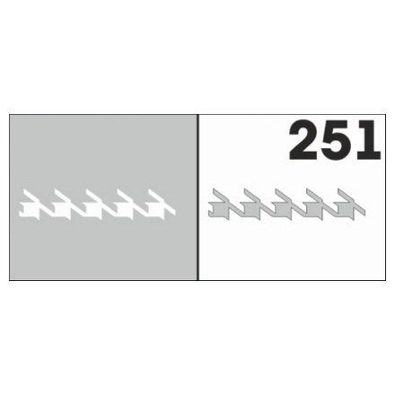 AIRnails, Трафарет №251Трафареты<br>Набор многоразовых клеевых трафаретов для аэрографии на ногтях, 6шт/1уп<br>