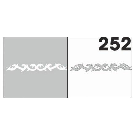 AIRnails, Трафарет №252Трафареты<br>Набор многоразовых клеевых трафаретов для аэрографии на ногтях, 6шт/1уп<br>