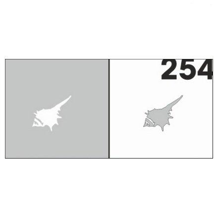 AIRnails, Трафарет №254Трафареты<br>Набор многоразовых клеевых трафаретов для аэрографии на ногтях, 6шт/1уп<br>