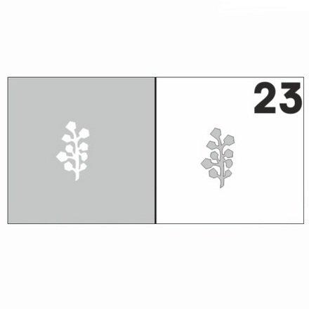 AIRnails, Трафарет №23Трафареты<br>Набор многоразовых клеевых трафаретов для аэрографии на ногтях, 6шт/1уп<br>