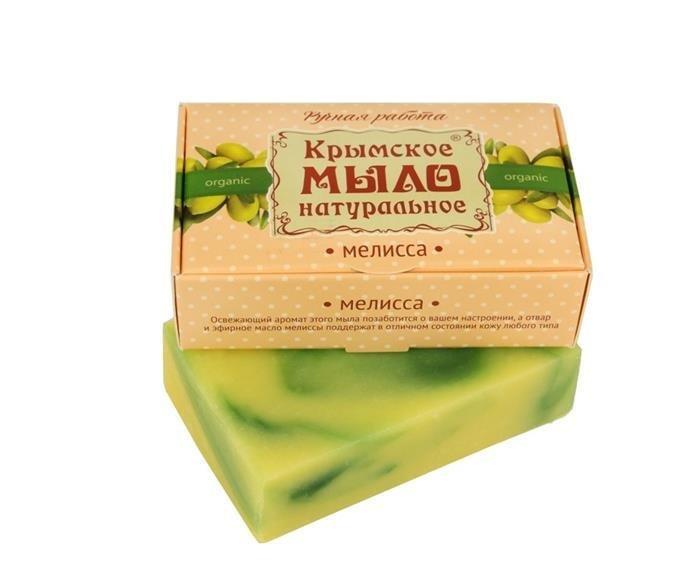 Дом Природы, Мыло натуральное (Мелисса)Органическое мыло<br>Масло мелиссы стимулирует микроциркуляцию кожи.<br>