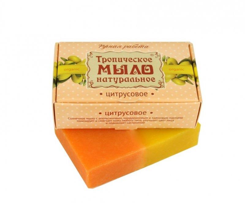 Дом Природы, Мыло натуральное (Цитрусовое)Органическое мыло<br>Солнечное мыло с апельсиновым, мандариновым и лимонным маслами.<br>