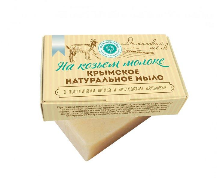 Дом Природы, Мыло натуральное (Дамасский шелк) на козьем молоке (Мануфактура