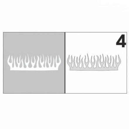 AIRnails, Трафарет №4Трафареты<br>Набор многоразовых клеевых трафаретов для аэрографии на ногтях, 6шт/1уп<br>