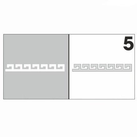 AIRnails, Трафарет №5Трафареты<br>Набор многоразовых клеевых трафаретов для аэрографии на ногтях, 6шт/1уп<br>