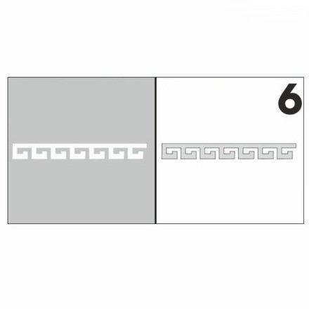 AIRnails, Трафарет №6Трафареты<br>Набор многоразовых клеевых трафаретов для аэрографии на ногтях, 6шт/1уп<br>