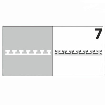 AIRnails, Трафарет №7Трафареты<br>Набор многоразовых клеевых трафаретов для аэрографии на ногтях, 6шт/1уп<br>