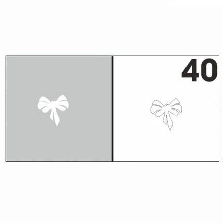 AIRnails, Трафарет №40Трафареты<br>Набор многоразовых клеевых трафаретов для аэрографии на ногтях, 6шт/1уп<br>