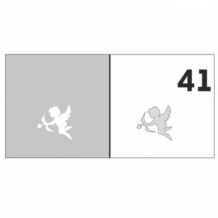 AIRnails, Трафарет №41Трафареты<br>Набор многоразовых клеевых трафаретов для аэрографии на ногтях, 6шт/1уп<br>