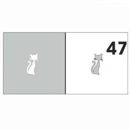 AIRnails, Трафарет №47Трафареты<br>Набор многоразовых клеевых трафаретов для аэрографии на ногтях, 6шт/1уп<br>