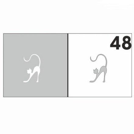 AIRnails, Трафарет №48Трафареты<br>Набор многоразовых клеевых трафаретов для аэрографии на ногтях, 6шт/1уп<br>