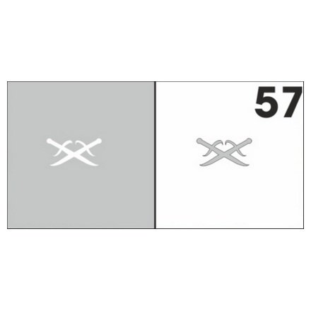 AIRnails, Трафарет №57Трафареты<br>Набор многоразовых клеевых трафаретов для аэрографии на ногтях, 6шт/1уп<br>