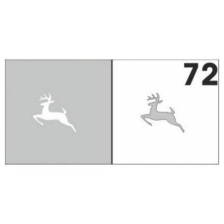 AIRnails, Трафарет №72Трафареты<br>Набор многоразовых клеевых трафаретов для аэрографии на ногтях, 6шт/1уп<br>