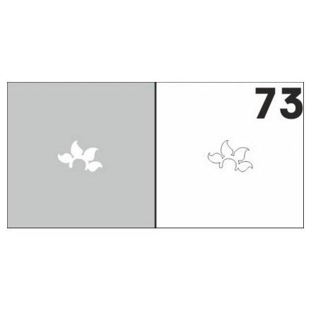 AIRnails, Трафарет №73Трафареты<br>Набор многоразовых клеевых трафаретов для аэрографии на ногтях, 6шт/1уп<br>