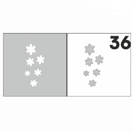 AIRnails, Трафарет №36Трафареты<br>Набор многоразовых клеевых трафаретов для аэрографии на ногтях, 6шт/1уп<br>