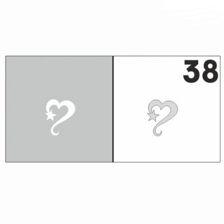 AIRnails, Трафарет №38Трафареты<br>Набор многоразовых клеевых трафаретов для аэрографии на ногтях, 6шт/1уп<br>