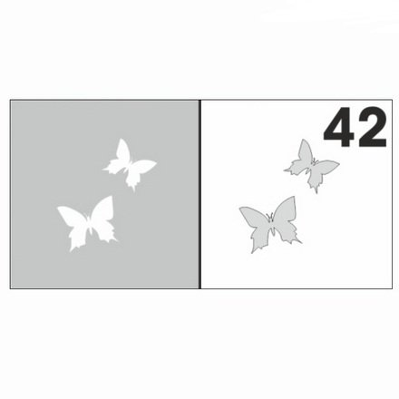 AIRnails, Трафарет №42Трафареты<br>Набор многоразовых клеевых трафаретов для аэрографии на ногтях, 6шт/1уп<br>