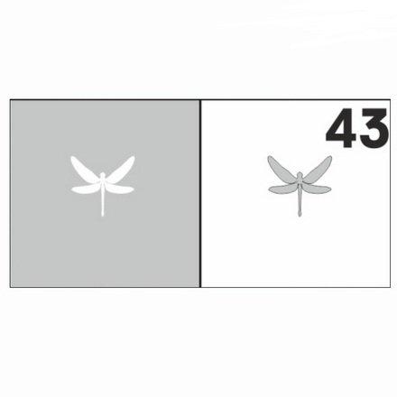 AIRnails, Трафарет №43Трафареты<br>Набор многоразовых клеевых трафаретов для аэрографии на ногтях, 6шт/1уп<br>