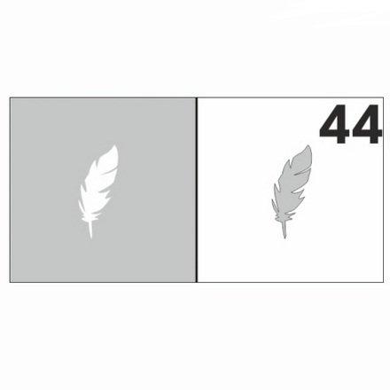 AIRnails, Трафарет №44Трафареты<br>Набор многоразовых клеевых трафаретов для аэрографии на ногтях, 6шт/1уп<br>