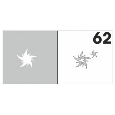AIRnails, Трафарет №62Трафареты<br>Набор многоразовых клеевых трафаретов для аэрографии на ногтях, 6шт/1уп<br>
