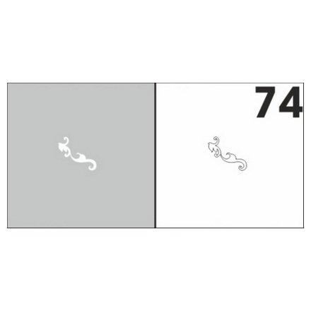 AIRnails, Трафарет №74Трафареты<br>Набор многоразовых клеевых трафаретов для аэрографии на ногтях, 6шт/1уп<br>