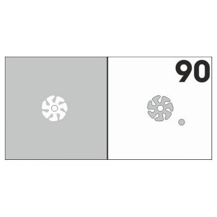 AIRnails, Трафарет №90Трафареты<br>Набор многоразовых клеевых трафаретов для аэрографии на ногтях, 6шт/1уп<br>