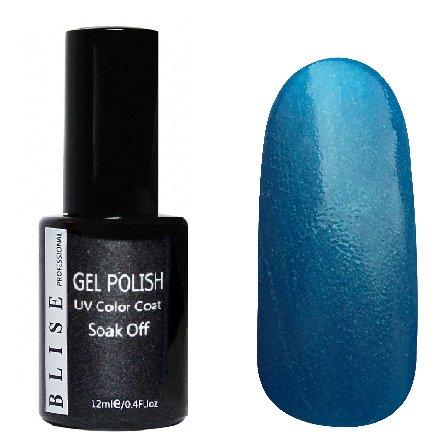 BLISE, Гель-лак - Приглушенно-синий с перламутром №092 (12 ml.)BLISE<br>Гель-лак приглушенно-синий с перламутром, плотный<br>