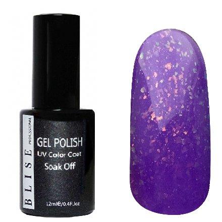 BLISE, Гель-лак - Ярко-фиолетовый со слюдой №103 (12 ml.)BLISE<br>Гель-лак ярко-фиолетовый со слюдой, полупрозрачный<br>