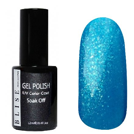 BLISE, Гель-лак - Легкий синий с микроблеском №104 (12 ml.)BLISE<br>Гель-лак легкий синий с микроблеском, полупрозрачный<br>