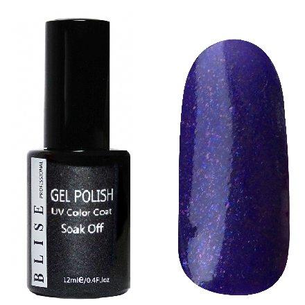 BLISE, Гель-лак - Фиолетовый с сиреневыми блестками №106 (12 ml.)BLISE<br>Гель-лак фиолетовый с сиреневыми блестками, плотный<br>