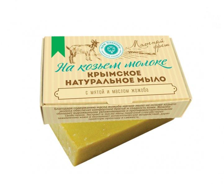 Дом Природы, Мыло натуральное (Мятный фреш) на козьем молокеОрганическое мыло<br>Обладает увлажняющими и противовоспалительными свойствами.<br>